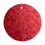 Triangle Background Abstract Round Ornament (Two Sides) Back