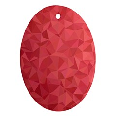 Triangle Background Abstract Oval Ornament (two Sides)