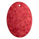 Triangle Background Abstract Oval Ornament (Two Sides) Back