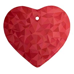 Triangle Background Abstract Heart Ornament (Two Sides)