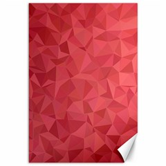 Triangle Background Abstract Canvas 12  x 18