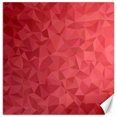 Triangle Background Abstract Canvas 16  x 16