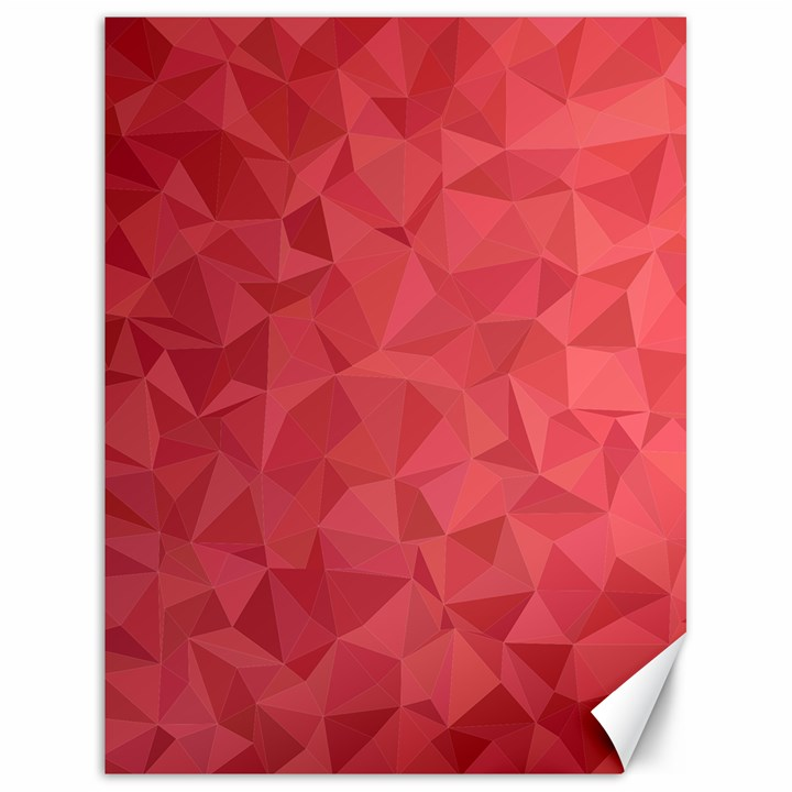 Triangle Background Abstract Canvas 18  x 24