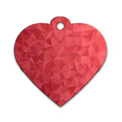 Triangle Background Abstract Dog Tag Heart (One Side)