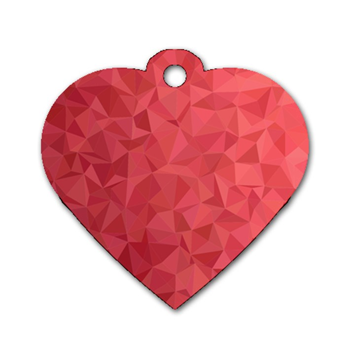 Triangle Background Abstract Dog Tag Heart (Two Sides)