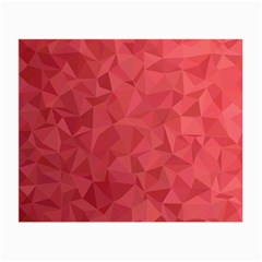 Triangle Background Abstract Small Glasses Cloth (2-Side)