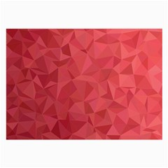 Triangle Background Abstract Large Glasses Cloth (2-Side)