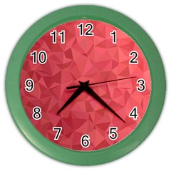 Triangle Background Abstract Color Wall Clock