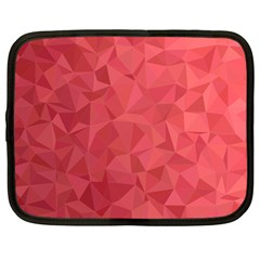 Triangle Background Abstract Netbook Case (large)