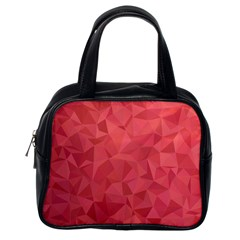 Triangle Background Abstract Classic Handbag (one Side)