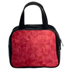 Triangle Background Abstract Classic Handbag (two Sides)