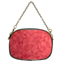 Triangle Background Abstract Chain Purse (Two Sides)