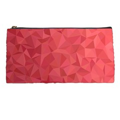 Triangle Background Abstract Pencil Cases