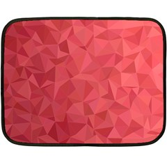 Triangle Background Abstract Double Sided Fleece Blanket (Mini)