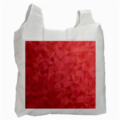 Triangle Background Abstract Recycle Bag (One Side)