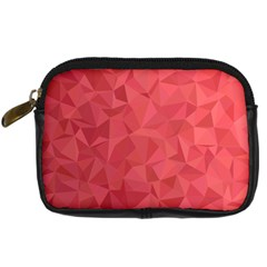 Triangle Background Abstract Digital Camera Leather Case