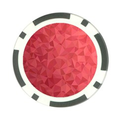 Triangle Background Abstract Poker Chip Card Guard (10 pack)