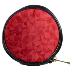 Triangle Background Abstract Mini Makeup Bag