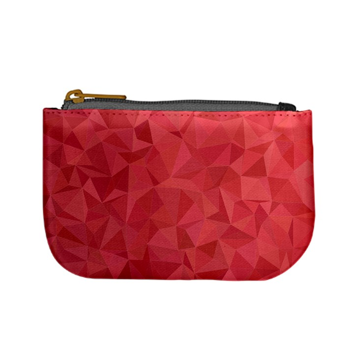 Triangle Background Abstract Mini Coin Purse