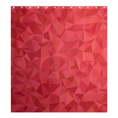 Triangle Background Abstract Shower Curtain 66  x 72  (Large)