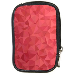 Triangle Background Abstract Compact Camera Leather Case