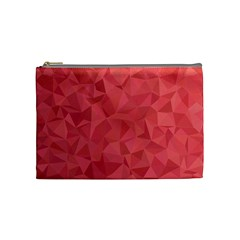 Triangle Background Abstract Cosmetic Bag (Medium)