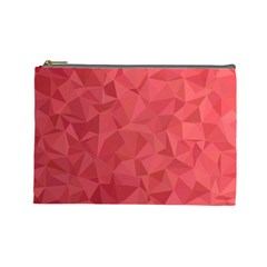 Triangle Background Abstract Cosmetic Bag (Large)