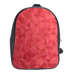 Triangle Background Abstract School Bag (large)