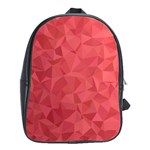 Triangle Background Abstract School Bag (Large) Front