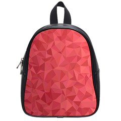 Triangle Background Abstract School Bag (Small)