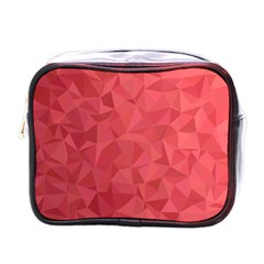 Triangle Background Abstract Mini Toiletries Bag (One Side)