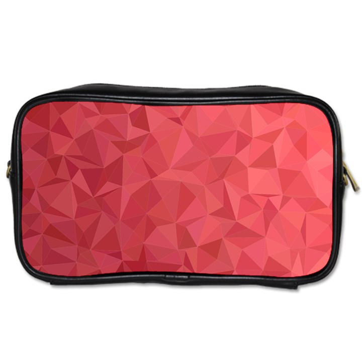 Triangle Background Abstract Toiletries Bag (Two Sides)