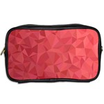 Triangle Background Abstract Toiletries Bag (Two Sides) Back