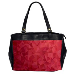 Triangle Background Abstract Oversize Office Handbag