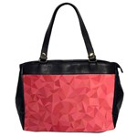 Triangle Background Abstract Oversize Office Handbag (2 Sides) Front