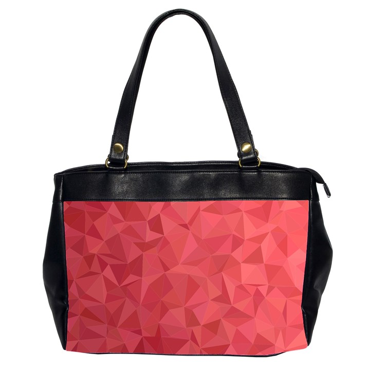 Triangle Background Abstract Oversize Office Handbag (2 Sides)