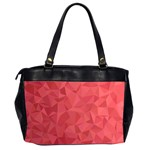 Triangle Background Abstract Oversize Office Handbag (2 Sides) Back
