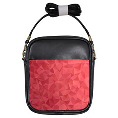 Triangle Background Abstract Girls Sling Bag