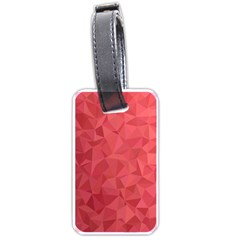 Triangle Background Abstract Luggage Tags (One Side)