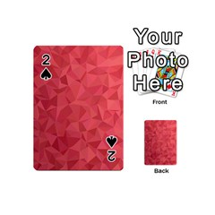 Triangle Background Abstract Playing Cards 54 (Mini)
