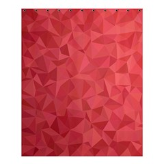 Triangle Background Abstract Shower Curtain 60  x 72  (Medium)