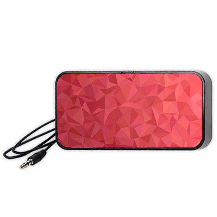 Triangle Background Abstract Portable Speaker
