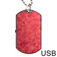 Triangle Background Abstract Dog Tag USB Flash (One Side)
