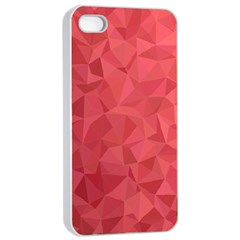 Triangle Background Abstract Apple iPhone 4/4s Seamless Case (White)