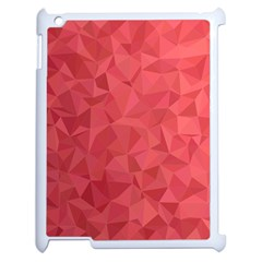 Triangle Background Abstract Apple iPad 2 Case (White)