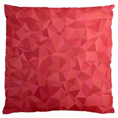 Triangle Background Abstract Large Cushion Case (One Side)