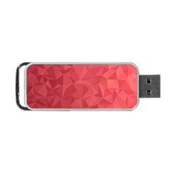 Triangle Background Abstract Portable USB Flash (One Side)