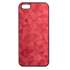 Triangle Background Abstract Apple iPhone 5 Seamless Case (Black)