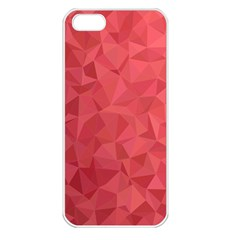 Triangle Background Abstract Apple iPhone 5 Seamless Case (White)