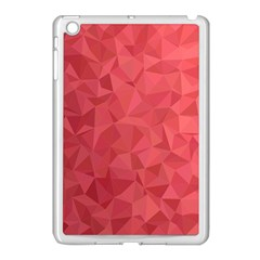 Triangle Background Abstract Apple iPad Mini Case (White)